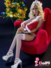 """156cm (5ft1″) L-cup """"Christmas babe"""" chubby blond sex doll Crystal with proud bust, curvy body"""