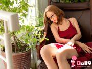 166CM (5ft44) b-cup chinois poitrine plate jeune femme flore avec tête #85