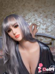 167CM (5ft47) G-cup capelli lisci lunghi grigi Marian con TESTA #15
