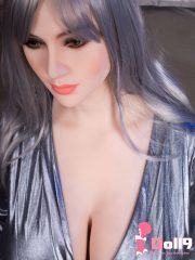 167CM(5ft47) G-cup grey long straight hair Marian with HEAD #15