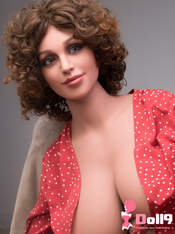 167CM(5ft47) G-cup Brown Curly hair Hourglass boobs mature woman Cara with HEAD #205