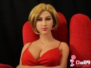 168CM (5ft51) D-Tasse Würzige blonde russische Alma mit KOPF #105